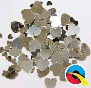 Qualatex Variés Argent Cœurs Metalique Table Confetti Paillettes (12g Paquet)
