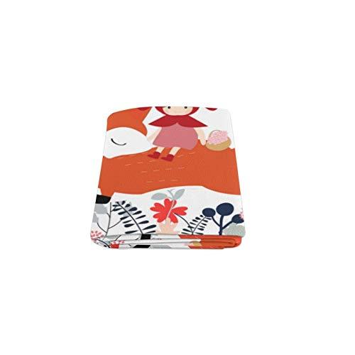 Zemivs Orange Goldener Fuchs Tier Benutzerdefinierte Winter Leicht Komfortable Pelz Fuzzy Super Soft Fleece Couch Sofa und Bett Decke für Baby Frauen Größe 40x50 Zoll Maschinenwaschbar - Tiere Woodland Schal