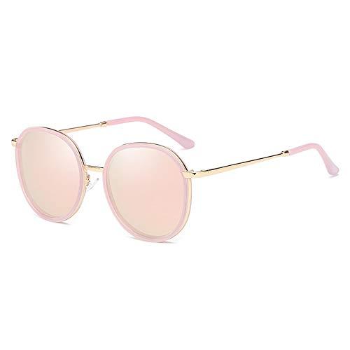 UV400-Schutz Transparenter Rahmen New Trend Round Frame Fahrbrille Damen Polarisierte Sonnenbrille Brille (Farbe : Pink)