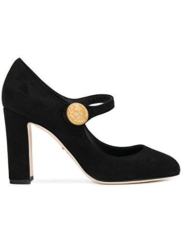 Dolce E Gabbana Femme CD0883A127580999 Noir Cuir Escarpins