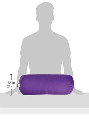 CalmingBreath Yoga Nackenkissen, rund - natürlich, umweltfreundlich, mit Buchweizen gefüllt