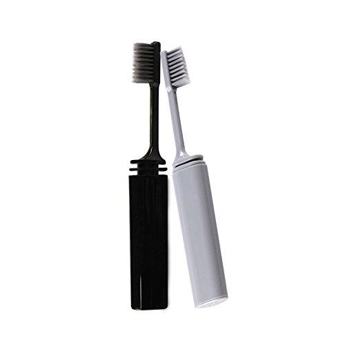 Outtybrave Tragbare faltbare Zahnbürste für die Reise zum Wandern, Camping, Zahnpflege