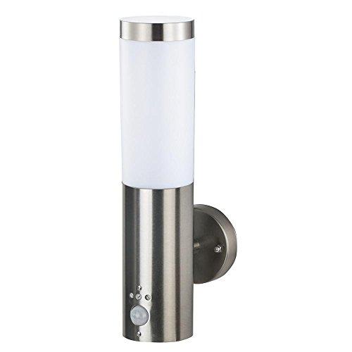 Grafner® Edelstahl Außenleuchte mit Bewegungsmelder Wandlampe Wandleuchte Fackel E27 IP44