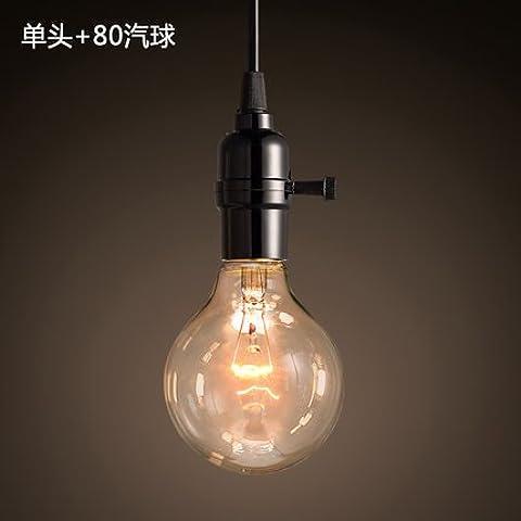 Lámpara de tungsteno Retro Fuente satinado Creative Arts decoración personalizada Incescent luz cálida Chelier
