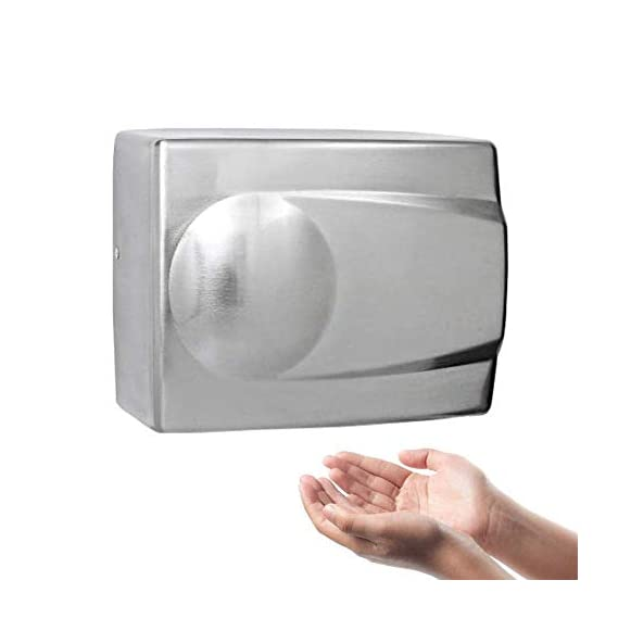 QUICK SILVER Fast Dry Automatic Stainless Steel Hand Dryer (Chrome)