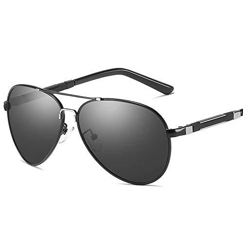 Easy Go Shopping Sonnenbrille mit polarisierten Gläsern Ultraleichte Sonnenbrille mit UV400-UV-Schutz Sonnenbrillen und Flacher Spiegel (Color : Schwarz, Size : Kostenlos)