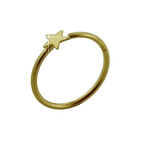 Nasen-Piercing Ring Schmuck Stecker 585er Gelbgold Spannring Offen, Stern