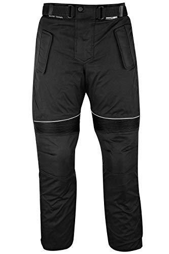 German Wear - Pantaloni da Uomo per Moto Cordura, Nero, 50 EU