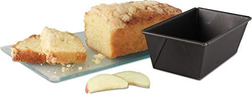 Dr. Oetker Kastenform 15 cm, kleine Kuchenform, eckige Backform aus Stahl mit Antihaftbeschichtung (Farbe: schwarz), Menge: 1 Stück -