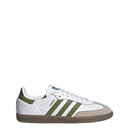 adidas Herren Samba OG Sneaker, Weiß (FTWR White/tech Olive/Light Brown 10013806), 43 1/3 EU