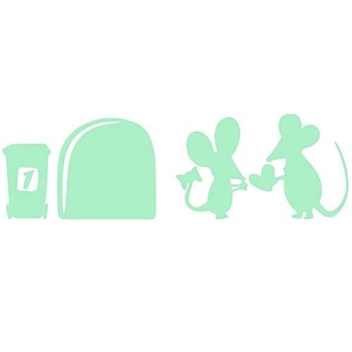 r Wandaufkleber Wandtattoos Leuchtende Wörter Aufkleber Bei Nacht -Maus Loch-Glow In The Dark Tapete für Kinder Schlafzimmer Decke ()
