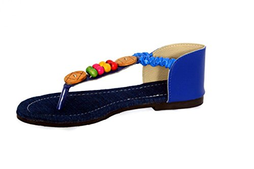 90322144b38 Latest Collection Ballet Flats | Women Slippers | Blue Fashion Women Sandals  | Synthetic Fancy Women