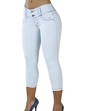 Keephen Jeans elasticizzati da donna - Pantaloni skinny stretti con fondo aderente Pantaloni estivi da bambina...