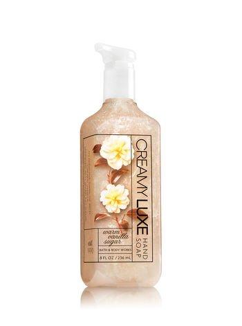 Bath & Body Works WARM VANILLA SUGAR Creamy Luxe Hand Soap 8 oz / 236 mL