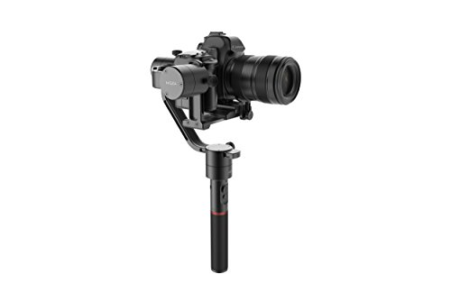 MOZA Air 3 Axis Handheld Gimbal Stabilizer with Dual Handheld Grip for Cameras Between 1.1Lb-5.5Lb Sony A7 Series Panasonic GH5 GH4 GH3 BMPCC Canon EOS 5D Mark IV + 3 pcs Extra batteries and Tripod