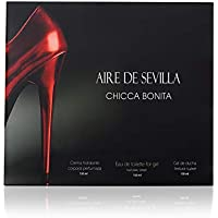 Aire de Sevilla Set de Belleza Edición Chicca Bonita - Crema Hidratante Corporal, Eau de Toilette, Gel Exfoliante