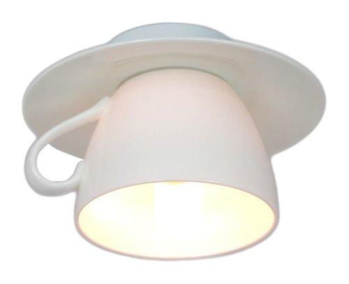 Cappuccino Bone China Porzellan Tassenlampe Deckenleuchte E14 60W