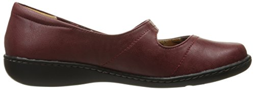 Doux Style Par Hush Puppies Jayne Mary Jane Flat Dark Red Leather