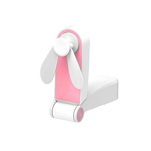 1 PC Tragbare persönliche Handgriffe Mini Fan-Taschen-USB-Ventilator Folding Fans Wiederaufladbare Kleiner Ventilator für Reisen (Pink) (Fan-pink Kleine)