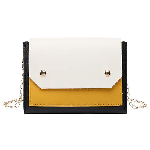 Schultaschen Sporttaschen Umhängetasche Fashion Lady Shoulders Kleiner Rucksack Brief Geldbörse Handy Gelb One Size - Womens Fashion-brief