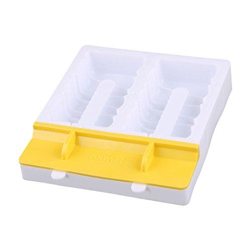 2 Fächer Leiter Form DIY Gefrorene Süßigkeiten Eis Lutscher Hersteller Gelb (Halloween-süßigkeiten Formen)