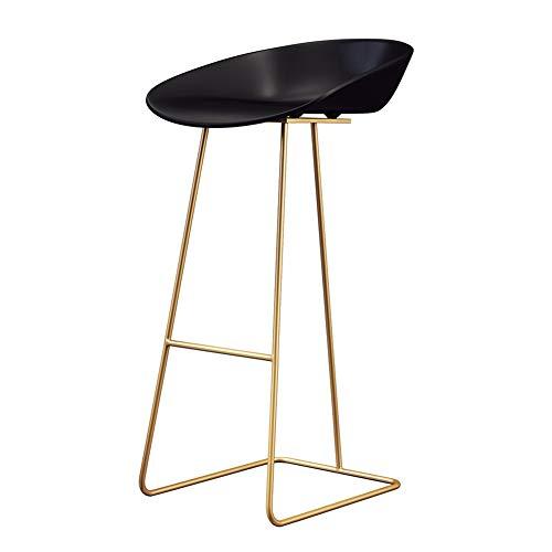 Sgabello semplice da bar, sgabello con schienale alto, design ergonomico, adatto per la cucina | colazione | bancone | accademia musicale | caffè | bar, 3 misure (oro)