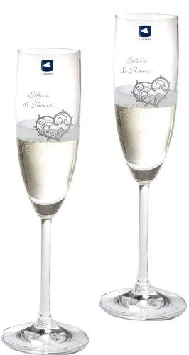 Gravurenalarm® Sektgläser Leonardo Daily 2er Set mit Gravur zur Hochzeit