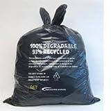 Biotech Compostable/Degradable Black Sacks 18x29x39 Medium Duty Case 200