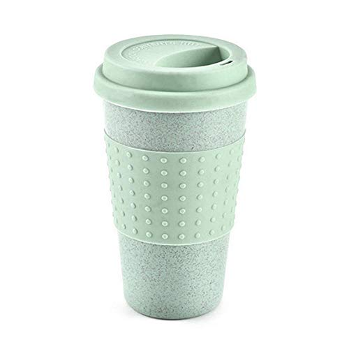 Matefield 330 ml Creative blé Paille Café Thé Mug Tasses Tasse Bouteille d'eau réutilisable Vert