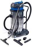 Aspirapolvere e aspiraliquidi industriale, dotato di 2 motori, con capacità di 70 litri