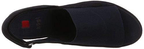 Högl 3- 10 3436, Sandali con Piattaforma Donna Blu (Ocean3000)