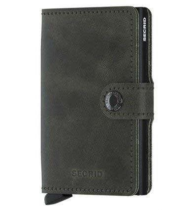 Secrid Mini Wallet Portemonnee Vintage Olive Black -