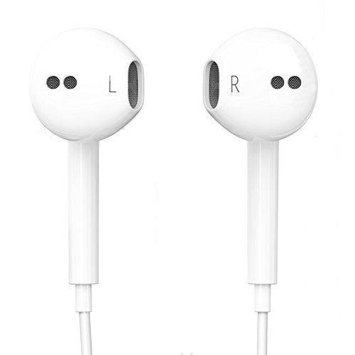 Schpeix Écouteurs intra-auriculaires élégants et confortables d'origine pour iPhone, iPad, iPod, Samsung, HTC, Sony et LG, parfaits pour le sport, blanc