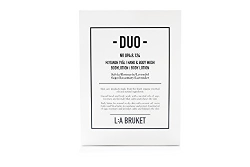 L:a Bruket Duo-kit Liquid Soap/Body Lotion, Sage/Rosemary/Lavender