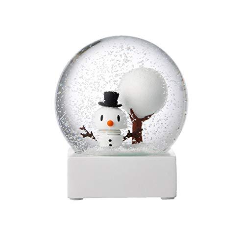 Schneekugel, Glaskugel, Mit Schneemann ()