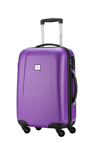 HAUPTSTADTKOFFER® Hartschalen Koffer WEDDING 1209 · 3 Koffergrößen (42Liter · 67Liter · 103Liter) · MATT · TSA Zahlenschloss + GEPÄCKGURT (103 Liter, Apfelgrün) Violett