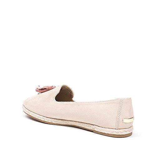 Ideal Shoes Slippers Effet Daim avec Franges Monica Rose