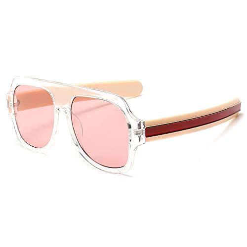 CHUSHENG Runde Sonnenbrillen für Damen und Herren, Dicke Linien, Beine, Luxus auf der Straße, Moderne Brillen, pflegeleicht und für Outdoor-Sportler geeignet,5