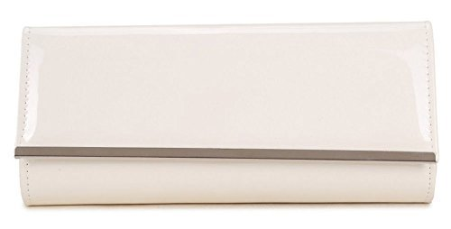 Other , Damen Clutch Nude/Apricot S Weiß