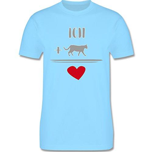 Statement Shirts - Katzen-Liebe - Herren Premium T-Shirt Hellblau