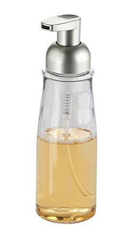 mdesign-pompa-dispenser-sapone-schiumogeno-per-cucina-como-bagno-trasparente-satinato