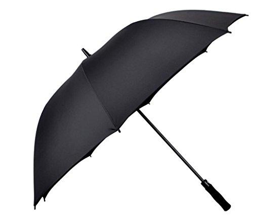 Langer Handgriff-Golf-Regenschirm-Schwarz-gerader Rod 8 Regenschirm-Stand-wetterfester Golf-Regenschirm, Werbungs-Regenschirm, Normallack-Regenschirm, Reise-Regenschirm, der Regenschirm (Lange Behandelt Handtaschen)