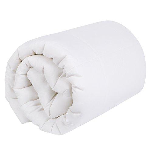HOMFY 4 Jahreszeiten Bettdecke 155x220cm, Baumwolle Ganzjahresdecke, Steppbett für Winter und Sommer, mit Hotelcharakter, weiß