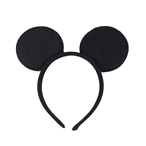EROSPA® Haarreif Mickey Mouse Ohren - Schwarz (Mickey Maus Kostüm Für Geburtstagsparty)