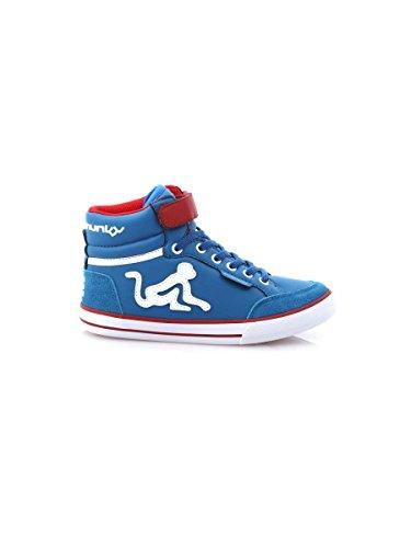 Drunknmunky Sneakers scarpe bambino rosso BOSTON CLASSIC 140 Blu