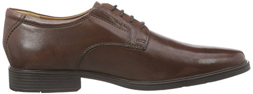 Tilden Marrone Pianura Marrone pelle Uomo Clarks Pizzo Derby dFz70w