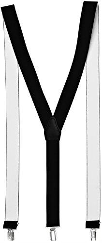 Sencillo Damen Hosenträger mit schonenden Clips Y-Form, Schwarz, 120 cm lang und 3,5 cm breit (Kostüme Jugendliche Paar Für)