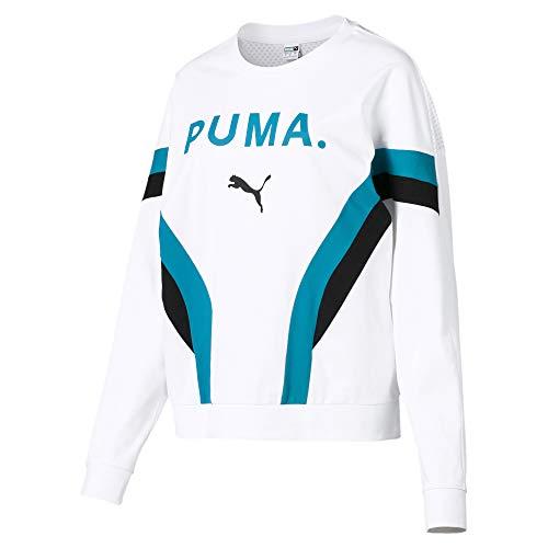 PUMA Chase Damen Langarm-Pullover Puma White - Jacke Sweatshirt Puma