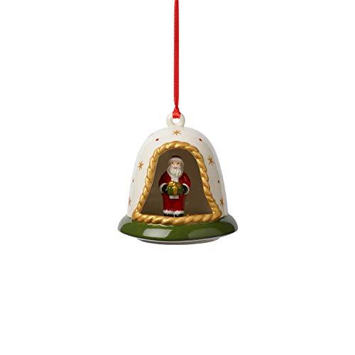 Villeroy & Boch MyChristmas Tree Weihnachtsglocke mit Santa, Porzellan, Grün -
