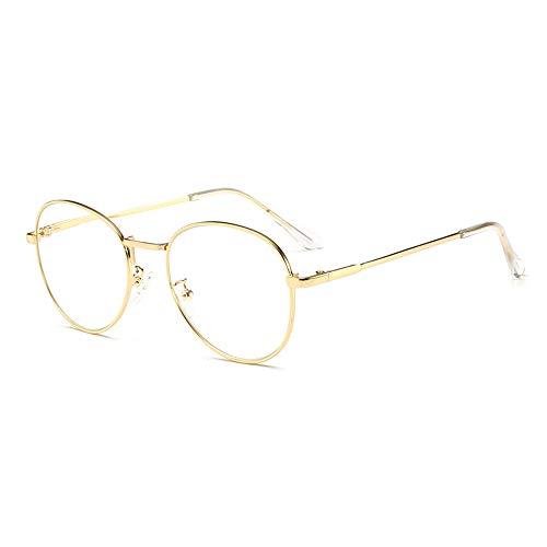 GEMSeven Ovale Metall Lesebrille Frauen & Männer Vintage Presbyopie Brille Optisches Spektakel Mit Dioptrien